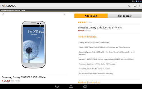 Jumia app for android screenshot thumbnail for Idaho fishing license online