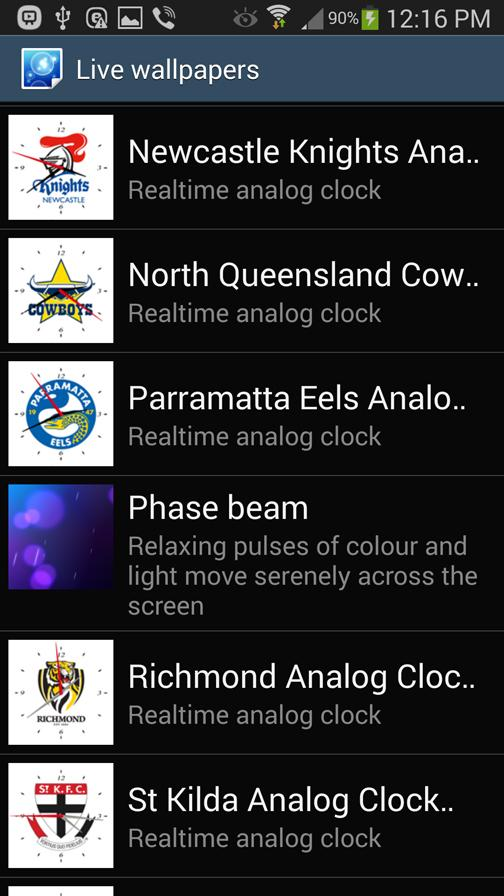 Newcastle Nights Analog Clock- screenshot