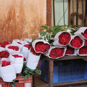 Bouquet   by Thakkar Mj - Flowers Flower Arangements ( shop, bouquet, arrangement, market, nature, color, roses, flower )