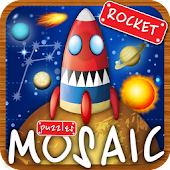 Puzzle game a spaceship flight