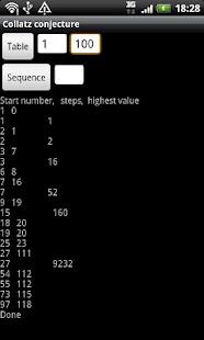 Collatz conjecture- screenshot thumbnail