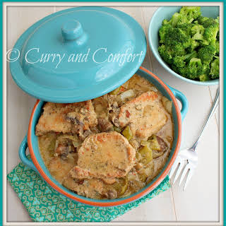 Smothered Pork Chops in Slow Cooker.