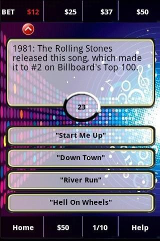 80s Rockband FunBlast! Trivia - screenshot