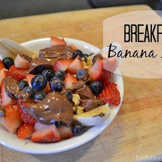 Breakfast Banana Split.