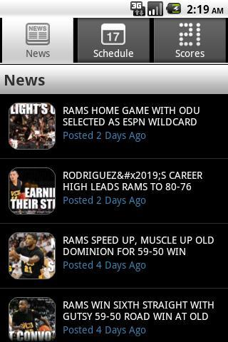 VCU Mobile- screenshot