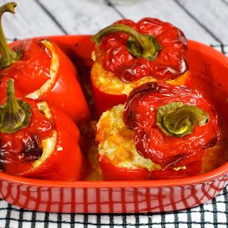 Turkey & Quinoa Stuffed Peppers.
