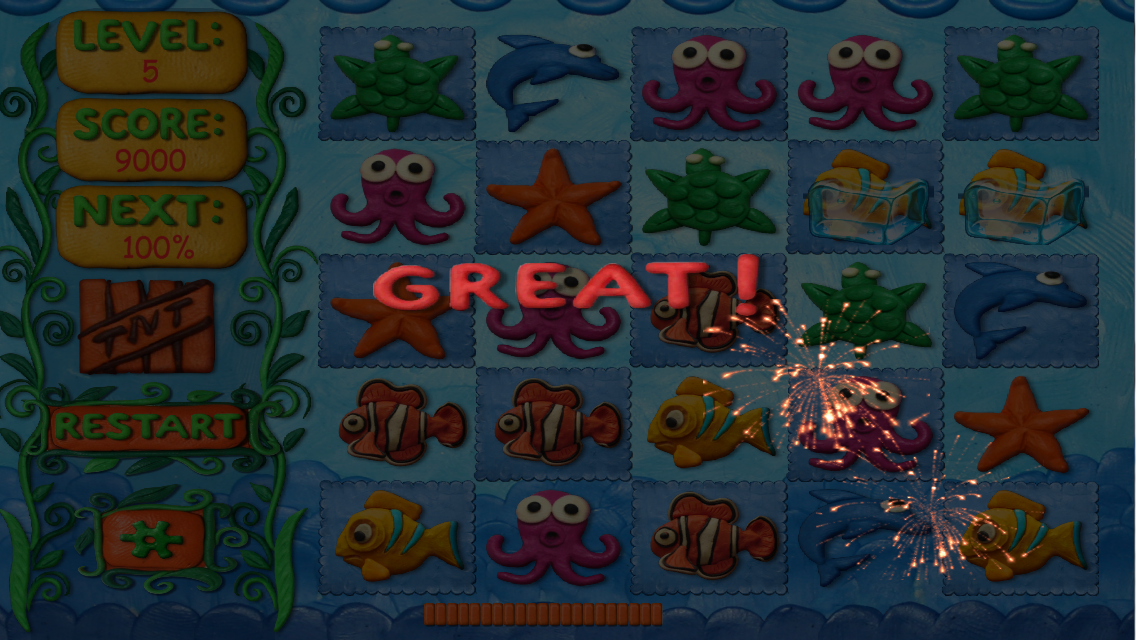 Underwater Clay Match HD - screenshot