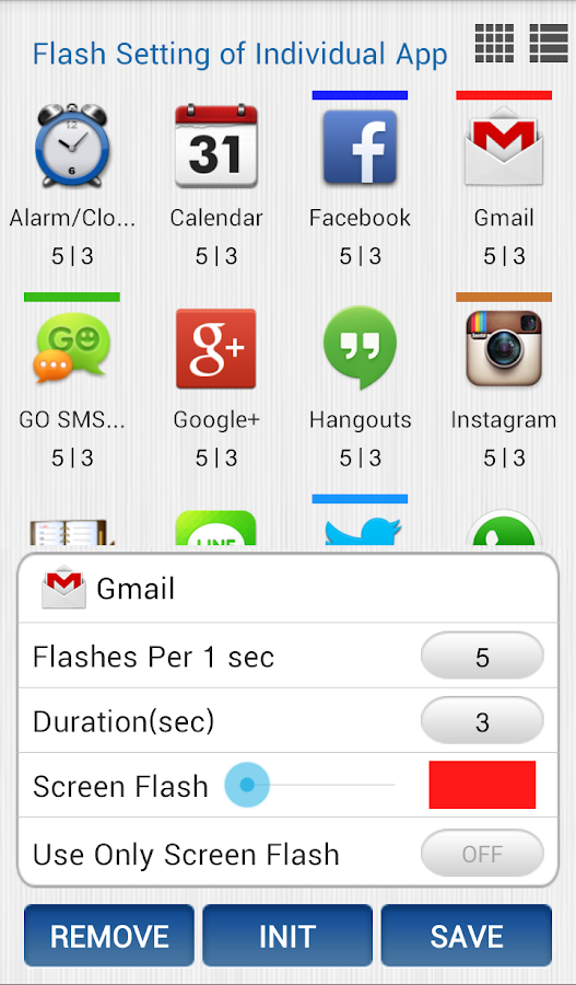 Vibrate then Ring with Flash - screenshot