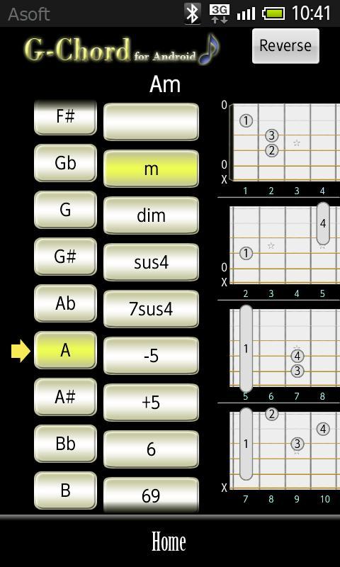 GChord  (Guitar Chord Finder) - screenshot
