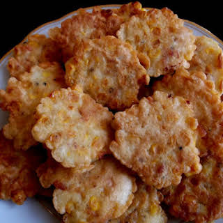 Fresh Corn and Crawfish Tail Meat Fritters.