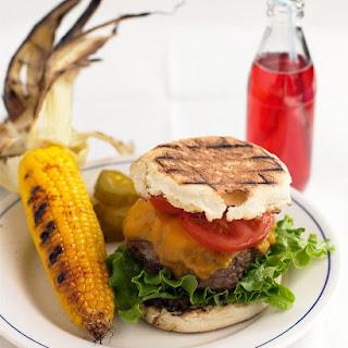 Cheddar-Horseradish Burgers.