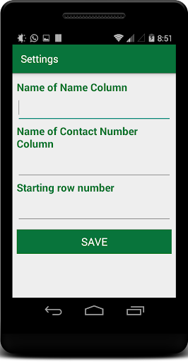 Import Export Excel Contacts