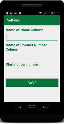 Import Export Excel Contacts - screenshot