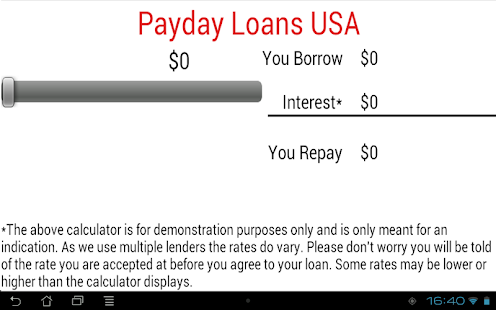 Payday Loans USA Cash Advance - screenshot thumbnail