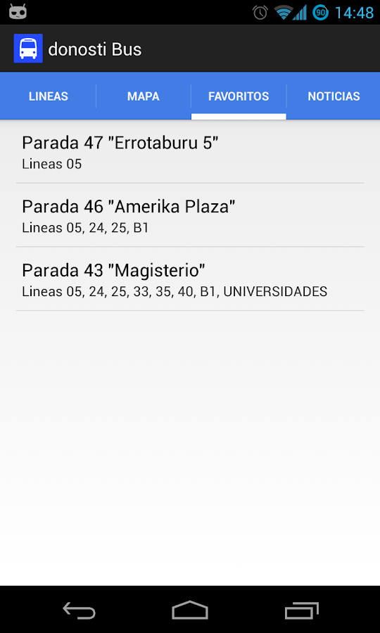 donosti Bus - screenshot