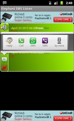 Elephant SMS Listen - screenshot