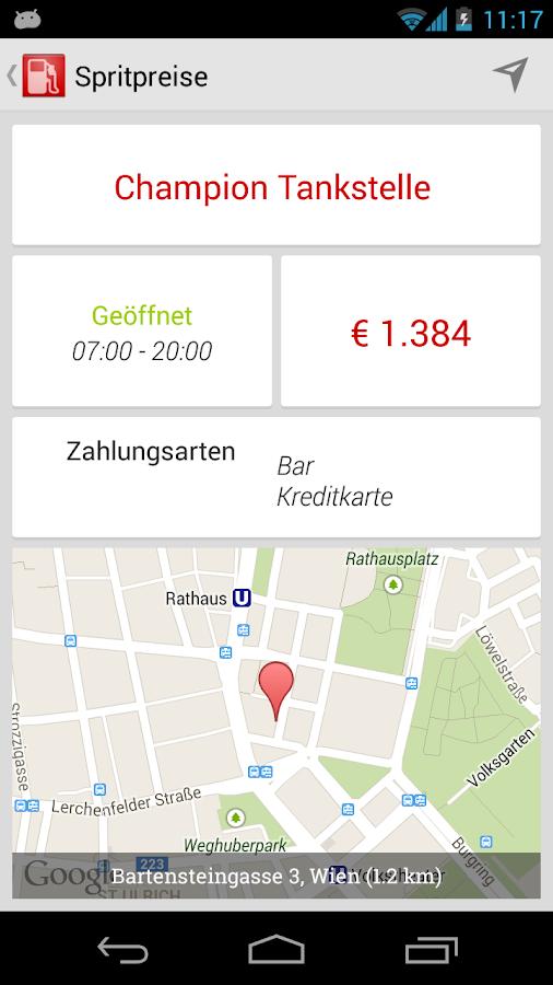 Spritpreis & Tanken Österreich - screenshot