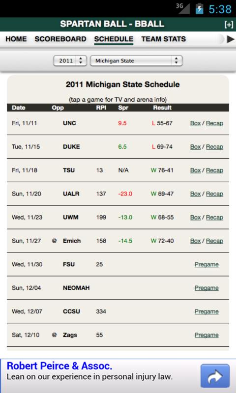 MSU Football & Basketball - screenshot