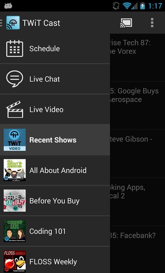 TWiT Cast for Chromecast - screenshot