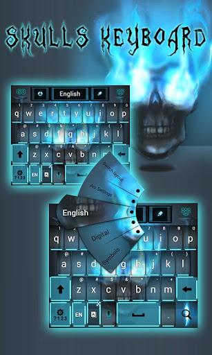 頭蓋骨のキーボード