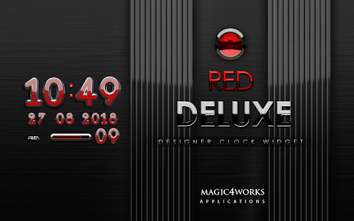 digital clock red deluxe