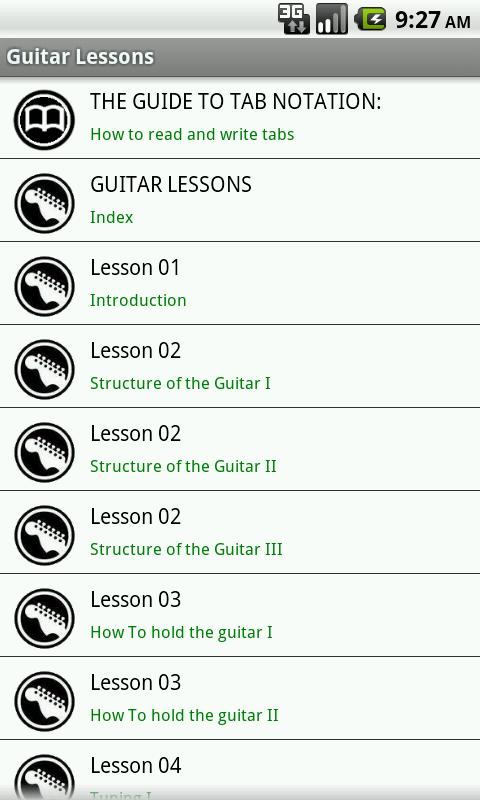 Guitar Lessons Free - screenshot