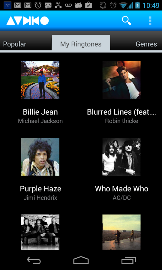 Audiko ringtones - screenshot