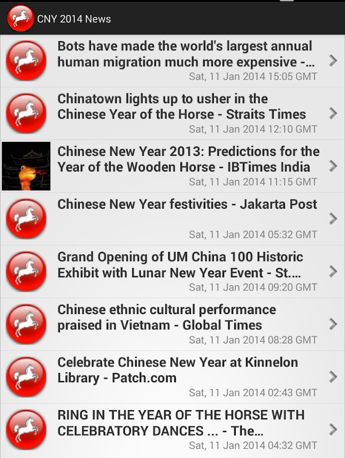 Chinese New Year 2014 News - screenshot