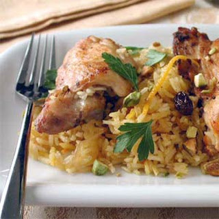 Shireen Palow (Afghan Orange Rice with Chicken).