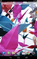 Screenshot of Ornate Origami Live Wallpaper