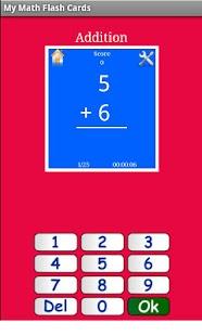 My Math Flash Cards App - screenshot thumbnail