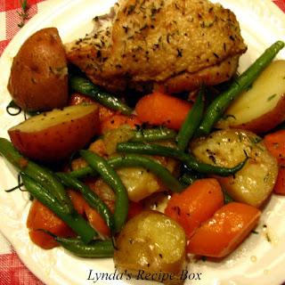 Braised Chicken and Vegetable Skillet Dinner