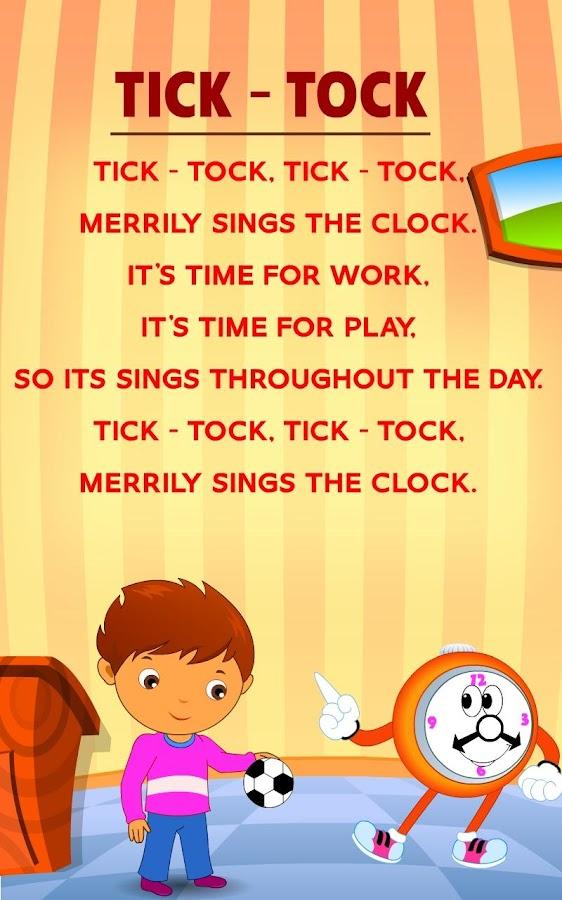 Kids Nursery Rhymes Lyrics 01 - Android Apps on Google Play