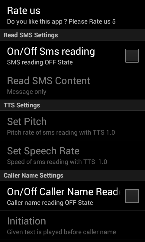 Call cum Sms Reader - screenshot
