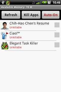 Elegant Task Killer - screenshot thumbnail
