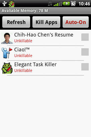 Elegant Task Killer - screenshot