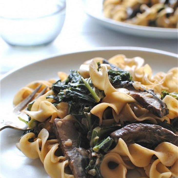 Portobello Mushroom and Kale Stroganoff Recipe