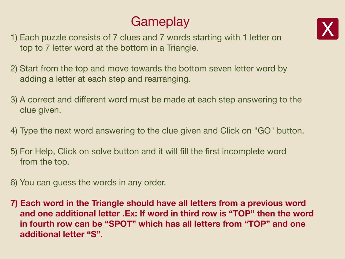 Word Triangle Pro - screenshot