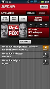 UFC TV - screenshot thumbnail