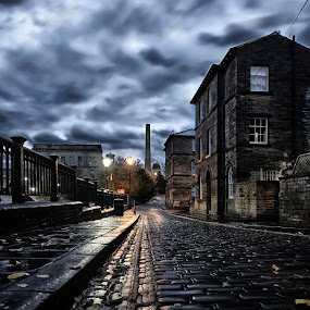 Saltaire by Andrew Holland - City,  Street & Park  Street Scenes (  )
