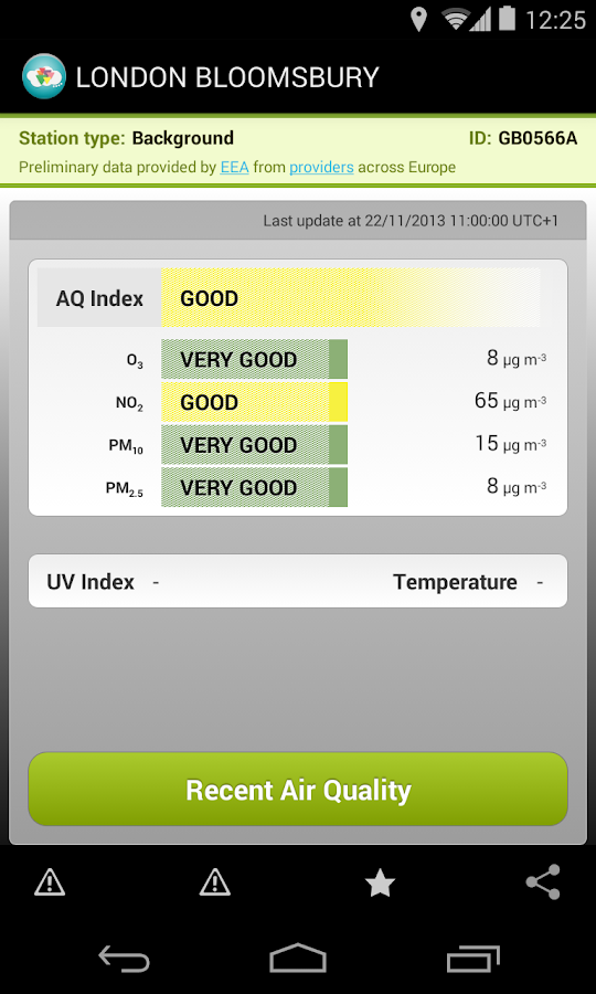 EuropeAir - Air Quality Europe - screenshot