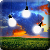 Bulbs In Rain Live Wallpaper