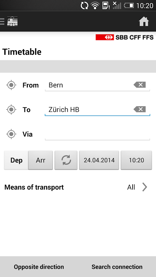 SBB Mobile - screenshot