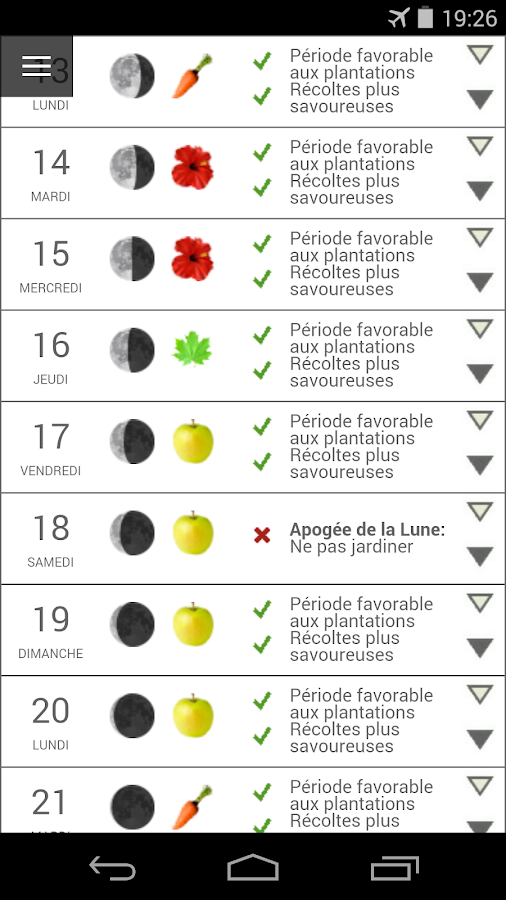 Au calendrier lunaire applications android sur google play for Calandrier lunaire pour le jardin