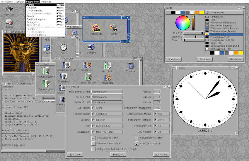 Amiga Workbench Simulation by Michael Rupp | Experiments