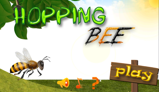 hopping honey bee