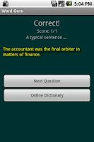 Screenshot of Word Guru Lite