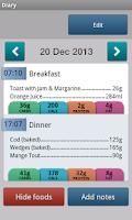 Screenshot of Carbs & Cals - Diabetes & Diet