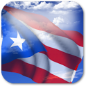 3D Puerto Rico Flag + icon