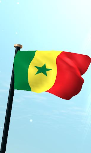 セネガルフラグ3Dライブ壁紙